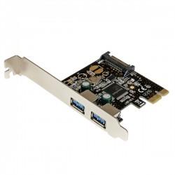StarTech.com - Adaptador Tarjeta Controladora PCI Express PCI-E 2 Puertos USB 3.0 con Alimentación SATA