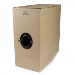StarTech.com - Rollo Bobina de 304,8m de Cable de Red Sólido Bulk a Granel UTP Cat5e Negro Certificado CMR (Riser)