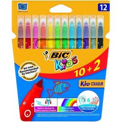 BIC - Kid Couleur rotulador Medio Multicolor 12 pieza(s)