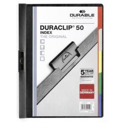 Durable - 223401 archivador Negro Papel aluminio, Acero