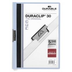 Durable - Duraclip 30 archivador Azul claro, Transparente PVC