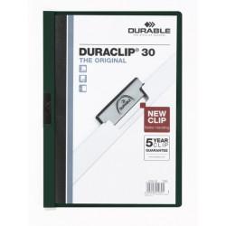 Durable - DURACLIP 30 A4 PVC Negro, Verde, Transparente