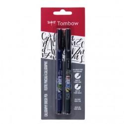 Tombow - WS-BHS-2P pluma fuente Negro 2 pieza(s)