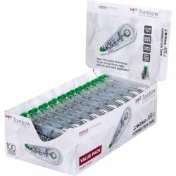 Tombow - CT-CA4-20 corrección de películo/cinta Verde, Transparente, Blanco 10 m 20 pieza(s)