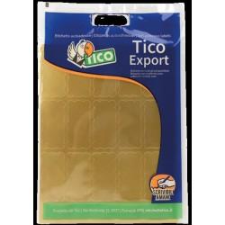 Tico - E-GL-4521 etiqueta autoadhesiva Oro Rectángulo 150 pieza(s)
