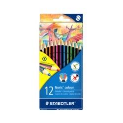 Staedtler - Noris colour 185 laápiz de color 12 pieza(s) Negro, Azul, Marrón, Verde, Azul claro, Verde claro, Magenta, Naranja,