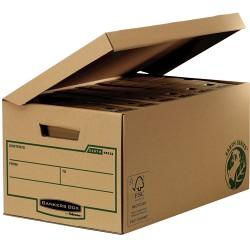 Fellowes - 4472205 caja de almacenaje Negro, Marrón Rectangular Papel