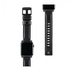 Urban Armor Gear - 19149B114080 accesorio de relojes inteligentes Grupo de rock Negro Piel auténtica, Acero inoxidable