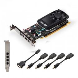 PNY - VCQP1000V2-PB tarjeta gráfica NVIDIA Quadro P1000 V2 4 GB GDDR5