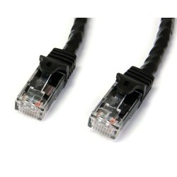StarTech.com - Cable de Red Ethernet Snagless Sin Enganches Cat 6 Cat6 Gigabit 0,5m - Negro