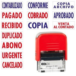Colop - SELLO DE ENTINAJE PRINTER FORMULA CONTABILIZADO COLOP 151712