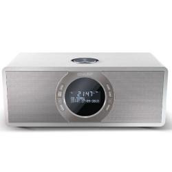 Sharp - SHARP DR-S460(WH) RADIO ESTEREO DESPERTADOR CON SINTONIZADOR DAB, DAB+, FM, BT, AUX IN, 30W, B/W LCD DISPLAY, SOBREMESA