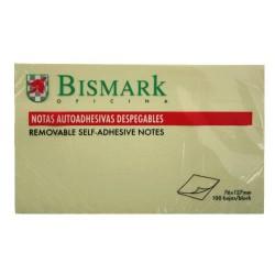 Bismark - TACO NOTAS ADHESIVAS AMARILLAS 76X127 MM. 100 HOJAS BISMARK 921009