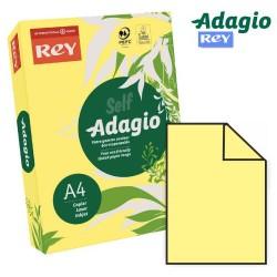 Adagio - PAQUETE 500 HOJAS PAPEL A4 80GR. AMARILLO PALIDO ADAGIO 156220