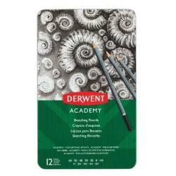 Derwent - Academy lápiz de carbón Gris 12 pieza(s)