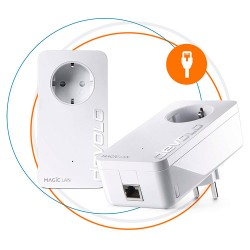 Devolo - Devolo Magic 2 LAN, 2400 Mbit/s, IEEE 802.3,IEEE 802.3ab,IEEE 802.3az,IEEE 802.3u,IEEE 802.3x, Gigabit Ethernet, 10,100