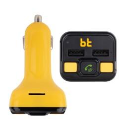 NGS - Spark BT Curry transmisor FM 87,5 - 108 MHz Encendedor de cigarrillos Negro, Amarillo
