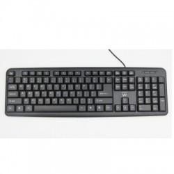Ewent - EW3109 USB + PS/2 Negro teclado