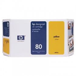 HP - Cartucho de tinta DesignJet 80 amarillo de 350 ml