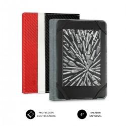 """SUBBLIM - Funda Libro Electrónico Clever Ebook Case 6"""" Red"""
