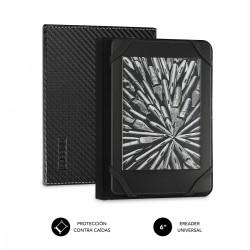 """SUBBLIM - Funda Libro Electrónico Clever Ebook Case 6"""" Black"""