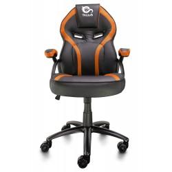 TALIUS - Silla Cobra gaming negra/naranja, brazos fijos, butterfly, base metal, ruedas 60mm nylon, gas