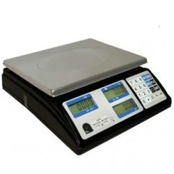 Posiflex - Minerva 56 PPI Báscula electrónica de cocina Negro, Acero inoxidable Encimera Rectángulo