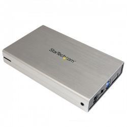 StarTech.com - Caja Carcasa de Aluminio USB 3.0 de Disco Duro HDD SATA 3 III de 3,5 Pulgadas Externo UASP - Platead