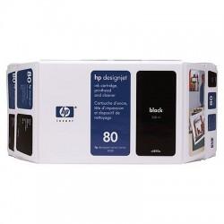 HP - Cartucho de tina DesignJet 80 negro de 350 ml