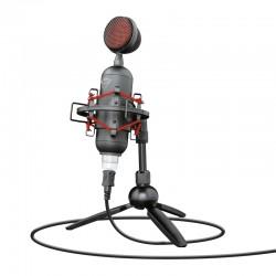 Trust - GXT 244 Buzz Micrófono para PC Negro, Rojo