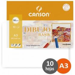 Canson - Dibujo Basik Arte de papel 10 hojas - C200406331