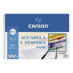 Canson - Acuarela y tempera Guarro Basik Arte de papel 10 hojas
