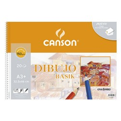 Canson - Dibujo Basik Arte de papel 20 hojas - C200400694