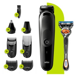 Braun - 81705165 cortadora de pelo y maquinilla Negro, Gris
