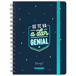 Mr. Wonderful - WOA10547ES agenda Agenda diaria/mensual 160 páginas Negro, Azul, Blanco