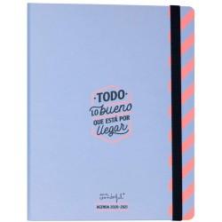 Mr. Wonderful - WOA10363ES agenda 160 páginas Azul, Rosa