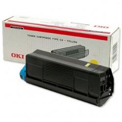 OKI - 42127405 Tóner de láser 5000páginas Amarillo tóner y cartucho láser