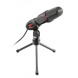 Trust - GXT 212 Micrófono para PC Negro, Rojo