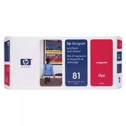 HP - Limpiador de cabezales de impresión y cabezal de impresión colorante DesignJet 81 magenta