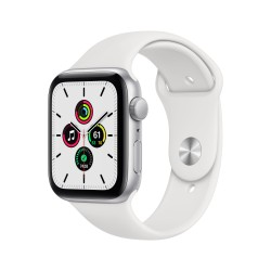 Apple - Watch SE OLED 44 mm Plata GPS (satélite)