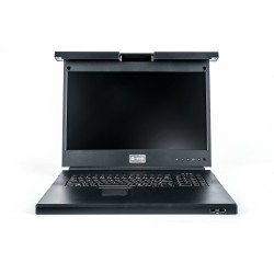 """Vertiv - Avocent Consola LCD de acceso directo al rack de 19"""", teclado USB, 2USB PASS, SPA"""