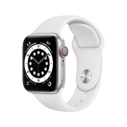 Apple - Watch Series 6 OLED 40 mm Plata 4G GPS (satélite)