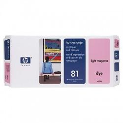 HP - Limpiador de cabezales de impresión y cabezal de impresión colorante DesignJet 81 magenta claro