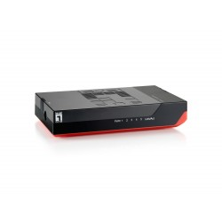 LevelOne - GSW-0507 switch No administrado Gigabit Ethernet (10/100/1000) Negro, Rojo