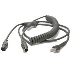 Zebra - KBW Wedge PS/2 9ft Power Port cable ps/2 2,7 m Gris