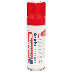 Edding - Permanent Spray pintura acrílica 200 ml Rojo Bote de spray
