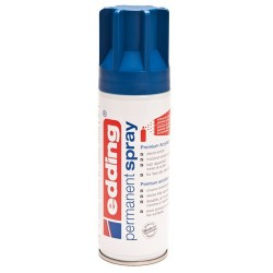 Edding - Permanent Spray pintura acrílica 200 ml Azul Bote de spray
