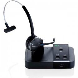 Jabra - PRO 9450 EMEA Monoaural gancho de oreja, Diadema Negro auricular con micrófono