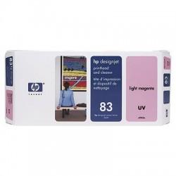 HP - Limpiador de cabezales de impresión y cabezal de impresión UV DesignJet 83 magenta claro