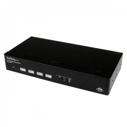 StarTech.com - Switch Conmutador KVM de 4 Puertos VGA USB con Conmutado Rápido DDM Fast Switching y Cables